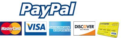 Pagamenti sicuri con PayPal e alla consegna