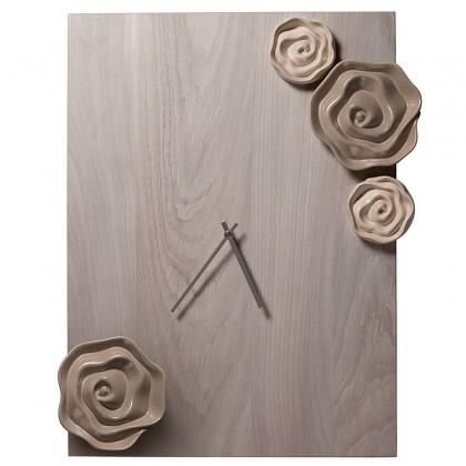 Orologio rettangolare con rose