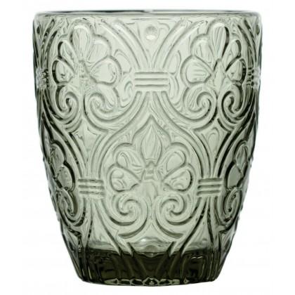 6 Bicchieri Corinto grigio decorato 300ml, Fade Maison