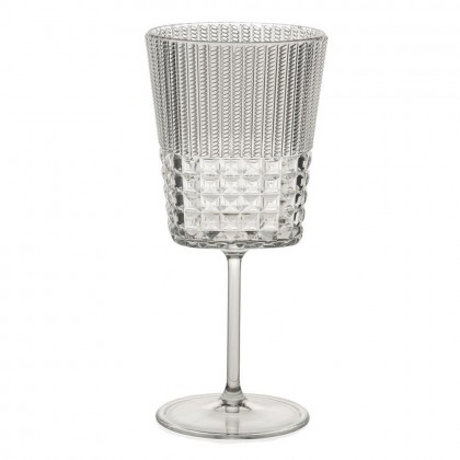"Set 6 calici vino Baci Milano in crystal acrylic, ""Chic e..."