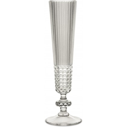"Set 6 calici flute Baci Milano in crystal acrylic, ""Chic..."