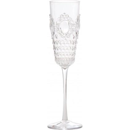 Baci Milano, bicchiere flute in acrilico, Baroque & Rock, set 6 pezzi