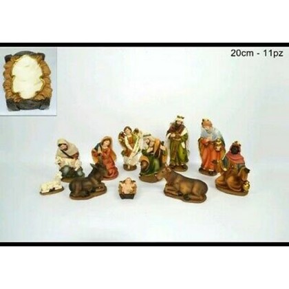 Natività araba 11 pezzi in resina,h20cm